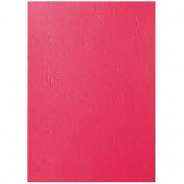 Coperti imitatie piele, rosu, A4, 250 g/mp, 100 buc/top, LEITZ