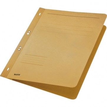 Dosar din carton, cu capse 1/1, 250 g/mp, bej, LEITZ