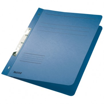 Dosar din carton, incopciat 1/1, 250 g/mp, albastru, LEITZ