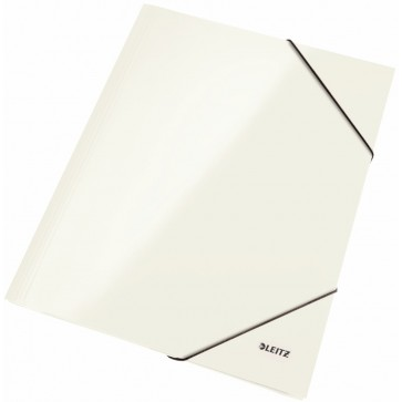 Mapa cu elastic, alb metalizat, LEITZ Wow