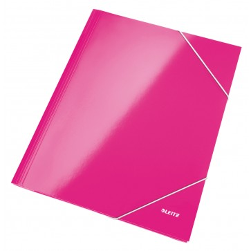 Mapa cu elastic, roz metalizat, LEITZ Wow