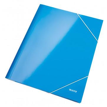 Mapa cu elastic, albastru metalizat, LEITZ Wow