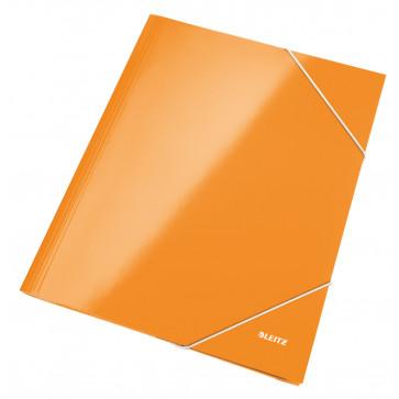 Mapa cu elastic, portocaliu metalizat, LEITZ Wow