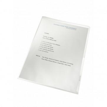File din plastic reciclate, 130 mic., 100 file/set, LEITZ