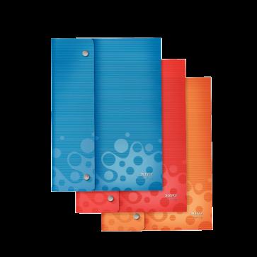 Mapa din plastic, A4, cu capse, 3 culori/set, LEITZ Bebop