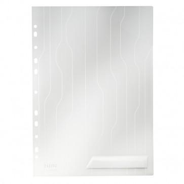 File din plastic, cu eticheta, transparent, 200 mic., 5 buc/set, LEITZ CombiFile