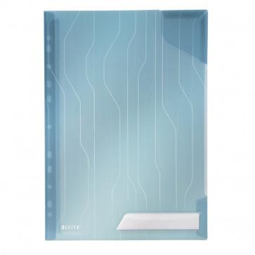 Mapa CombiFile, A4, albastru transparent, cu eticheta, 5 buc/set, LEITZ
