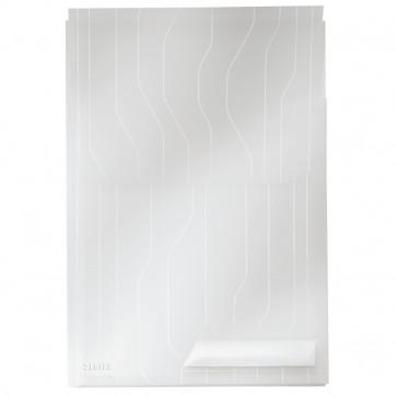 File din plastic, cu eticheta, transparenta, 200 mic., 3 buc/set, LEITZ Jumbo CombiFile