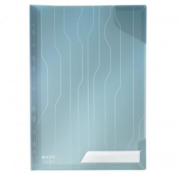 File din plastic, rigida, cu eticheta, albastru, 3 buc/set, LEITZ CombiFile