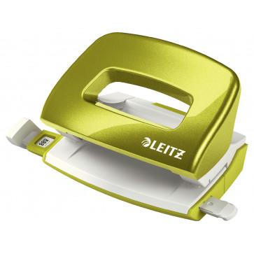 Perforator metalic de birou, pentru maxim 10 coli, verde metalizat, LEITZ MINI 5060 NeXXt Series