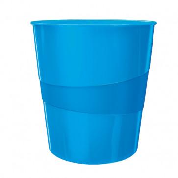 Cos de gunoi, 15 litri, albastru metalizat, LEITZ WOW