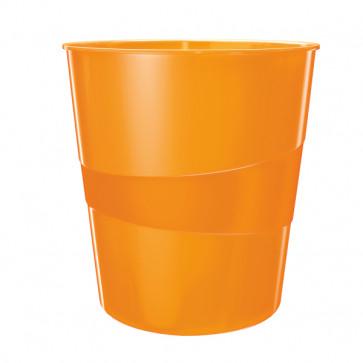 Cos de birou, 15l, portocaliu metalizat, LEITZ WOW