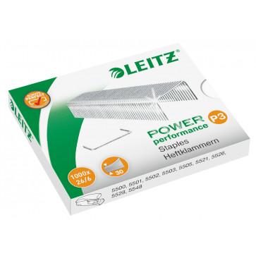 Capse 26/6, 1000 bucati/cutie, LEITZ POWER Performance P3