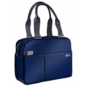Geanta pentru laptop 13.3'', albastru-violet, LEITZ Smart Traveller Shopper