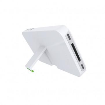 Carcasa, iPhone 4/4s, cu stativ, alb, LEITZ Complete