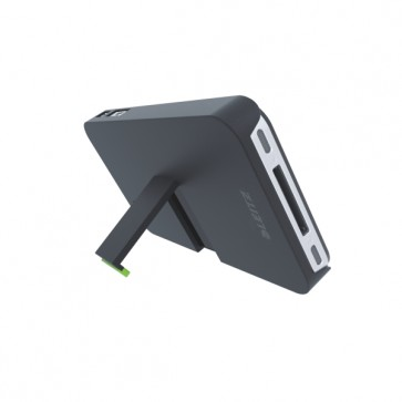 Carcasa, iPhone 4/4s, cu stativ, negru, LEITZ Complete