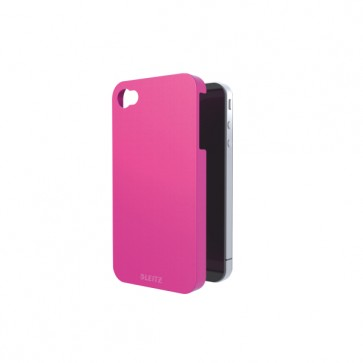 Carcasa, iPhone 4/4s, roz metalizat, LEITZ Complete WOW