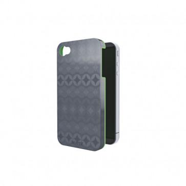 Carcasa, iPhone 4/4s, gri cu interior verde, LEITZ Complete Retro Chic