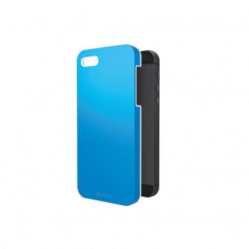 Carcasa, iPhone 5/5S, albastru metalizat, LEITZ Complete WOW