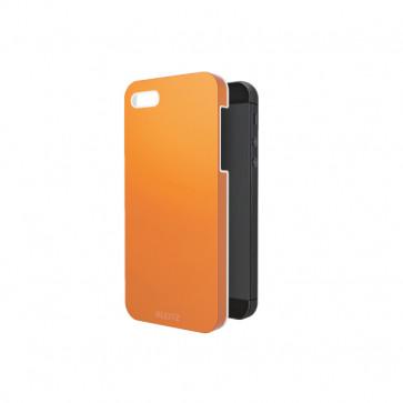 Carcasa, iPhone 5/5S, portocaliu metalizat, LEITZ Complete WOW
