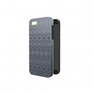Carcasa, iPhone 5/5S, gri cu interior verde, LEITZ Complete Retro Chic