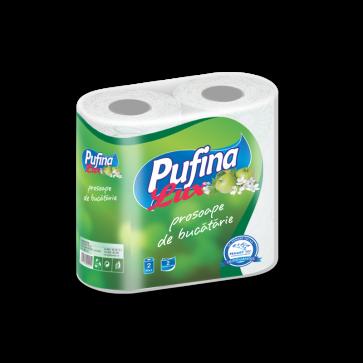 Prosop din hartie, 3 straturi, imprimat, 2 role/set, PUFINA Lux