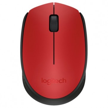 Mouse Wireless LOGITECH M171, USB, rosu
