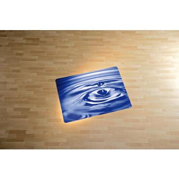 Protectie podea pentru suprafete dure, 90 x 120cm, albastru, RS OFFICE Rain Drop