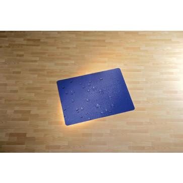 Protectie podea pentru suprafete dure, 90 x 120cm, albastru, RS OFFICE Water Drop