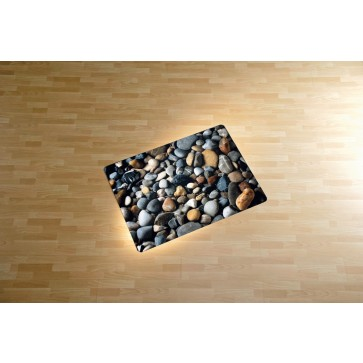 Protectie podea pentru suprafete dure, 90 x 120cm, colorat, RS OFFICE Pebbles
