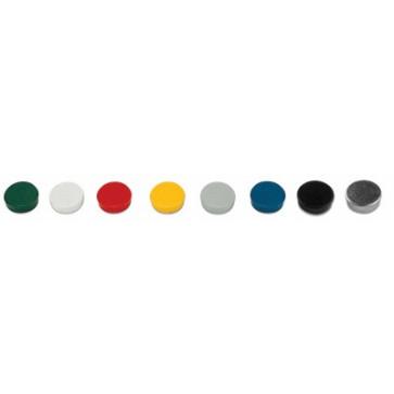 Magneti, diametru 15mm, alb, 10 buc/set, BI-OFFICE