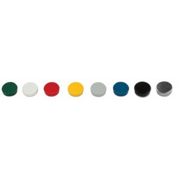 Magneti, diametru 30mm, galben, 10 buc/set, BI-OFFICE