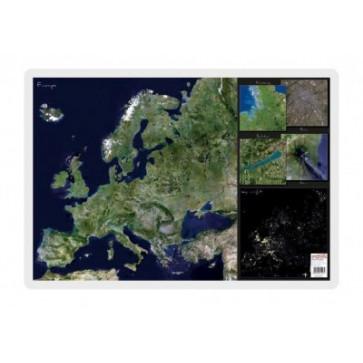 Mapa de birou, 70 x 50cm, harta Europei - vedere din satelit, STIEFEL
