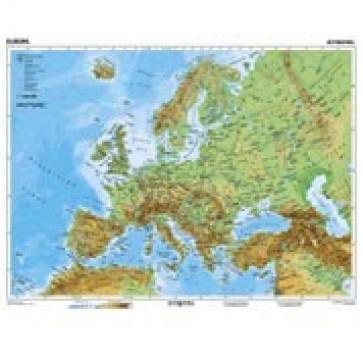 Mapa de birou, 70 x 50cm, harta Europei Fizice, STIEFEL