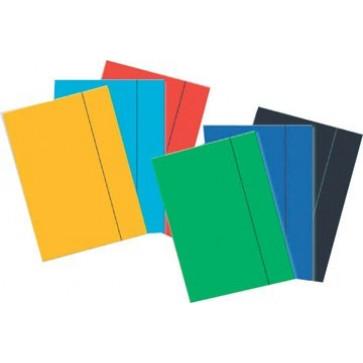 Mapa din carton plastifiat, A4, cu elastic, albastru