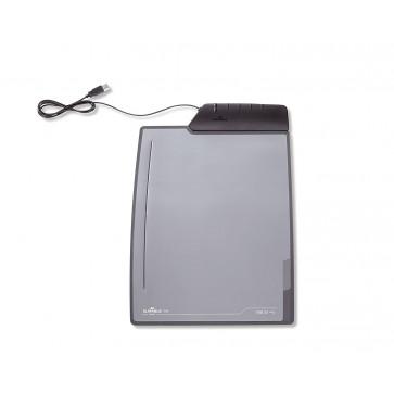 Mapa de birou, 45.00 x 33.00cm, negru, cu 4 porturi USB, DURABLE