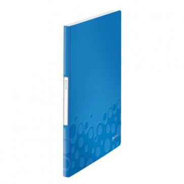 Mapa de prezentare, A4, 20 de folii , albastru metalizat , LEITZ WOW