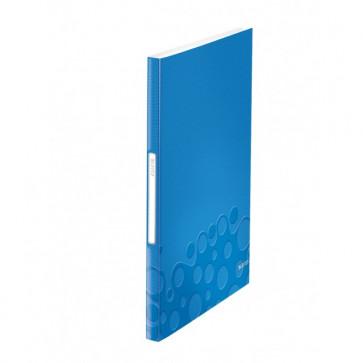 Mapa de prezentare, A4, 40 de folii de protectie, albastru metalizat, LEITZ WOW