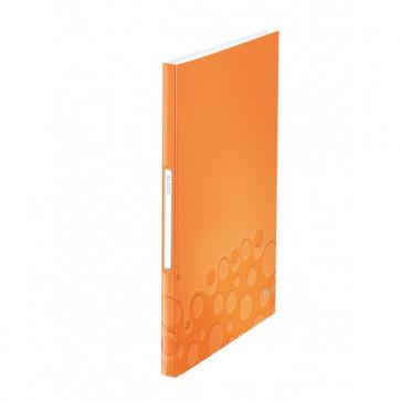Mapa de prezentare, A4, 40 de folii, portocaliu metalizat, LEITZ WOW