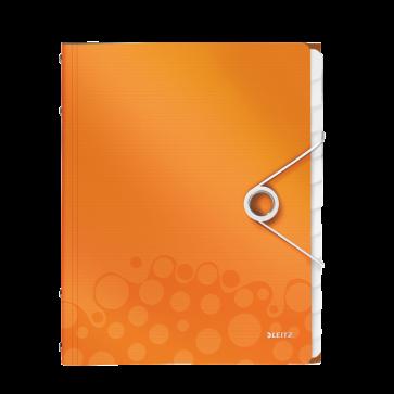 Mapa din plastic, A4, 12 separatoare, portocaliu metalizat, LEITZ WOW
