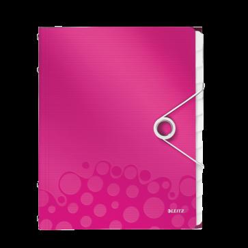 Mapa din plastic, A4, 12 separatoare, roz metalizat, LEITZ WOW