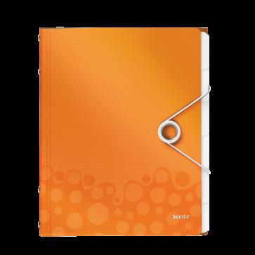 Mapa din plastic, A4, 6 separatoare, portocaliu metalizat, LEITZ WOW