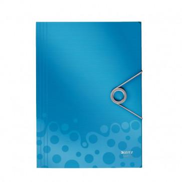 Mapa din plastic, A4, cu elastic, albastru, LEITZ Bebop