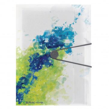 Mapa din plastic, A4, inchidere buton cu elastic, HERLITZ Color Splash Lemon