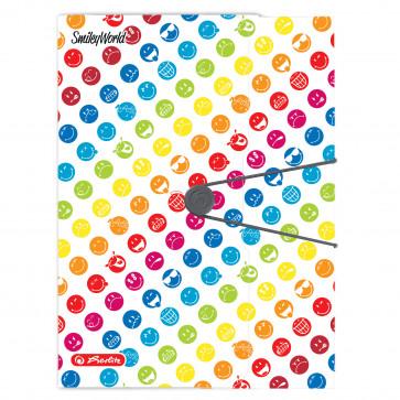 Mapa din plastic pentru documente, A4, HERLITZ Easy.Orga To Go Smiley World Rainbow