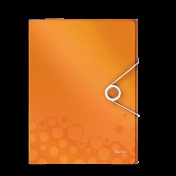 Mapa pentru conferinte, A4, 4 compartimente, portocaliu metalizat, LEITZ WOW