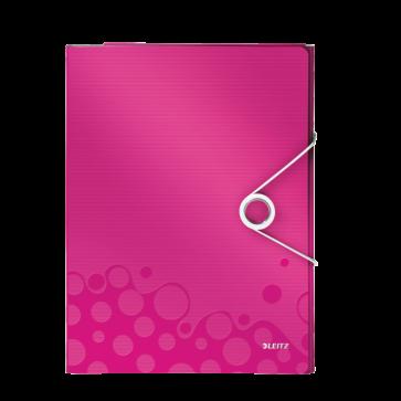 Mapa pentru conferinte, A4, 4 compartimente, roz metalizat, LEITZ WOW