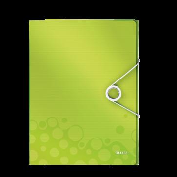 Mapa pentru conferinte, A4, 4 compartimente, verde metalizat, LEITZ WOW
