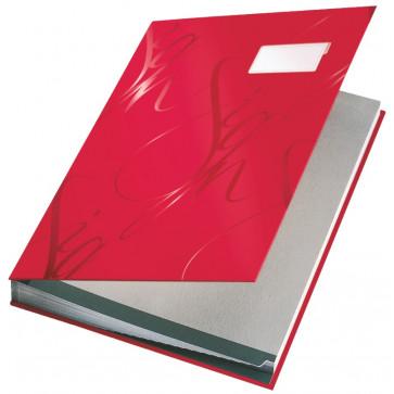 Mapa pentru semnaturi, 17 separatoare, rosu, Leitz Design