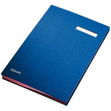 Mapa pentru semnaturi cu separatoare, 20 separatoare, albastru, Esselte